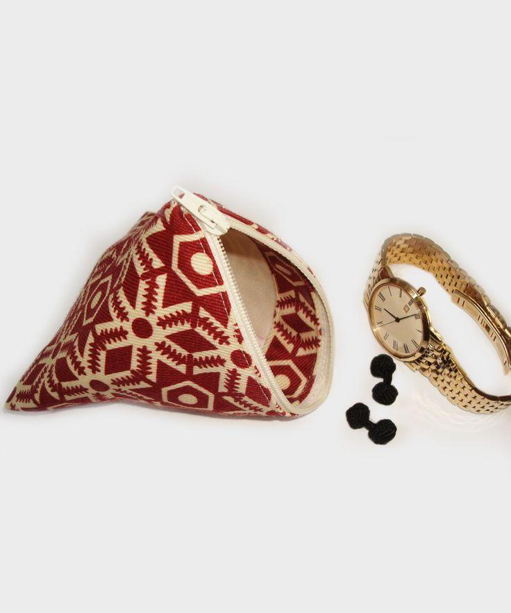 Bailey Hills Print + Wool - Triangular Travel Pouch