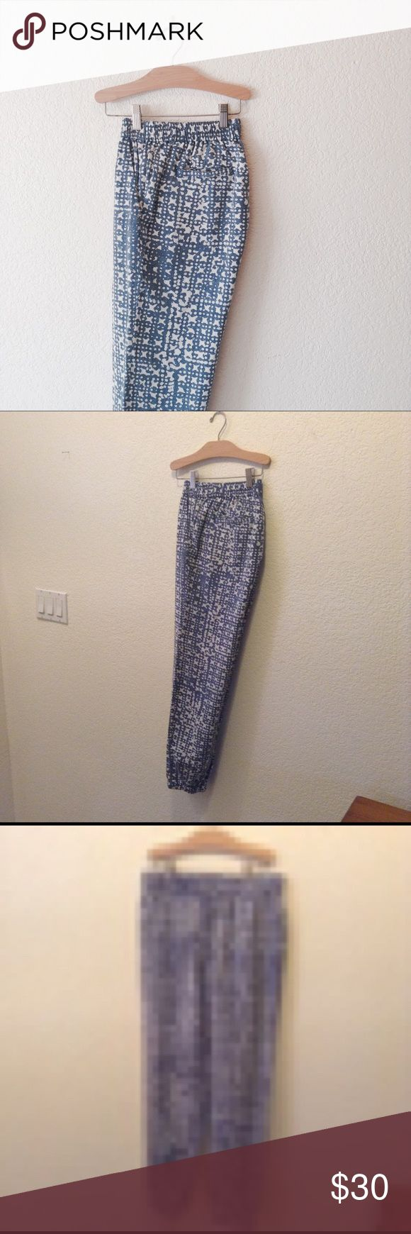 Michael Kors Ikat Drawstring Jogger Pants Excellent condition. These pants have front and back pockets, with an Ikat pattern in blue and cream, a drawstring front, and elastic pant cuffs. Joggers. Questions and offers are welcome Michael Kors Pants Track Pants & Joggers