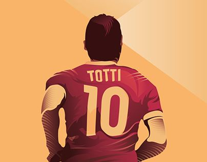"""Check out new work on my @Behance portfolio: """"Illustration of Francesco Totti"""" http://be.net/gallery/52472481/Illustration-of-Francesco-Totti"""