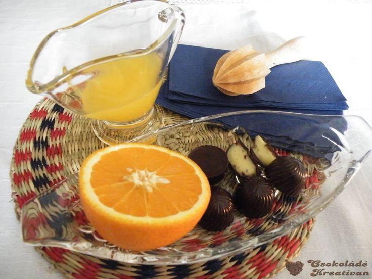 Narancsos - marcipános bonbonNéhány nappal ezelőtt az Aldi-ban vásároltam narancsos marcipánkrémet. ( Gourmet Szamos Marcipán ) Igaz, egy kicsit...