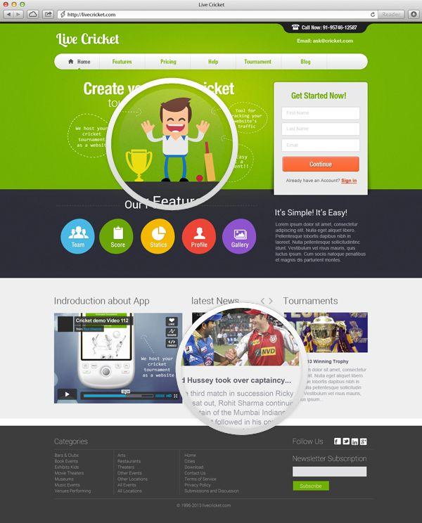 Live Cricket Website Design #website #design