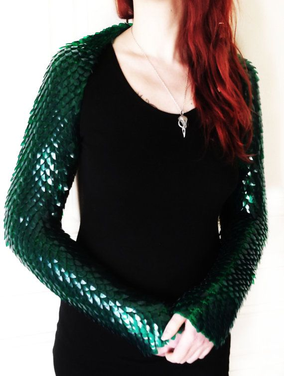 Colored dragon scales shrug  scale mail armor by Silmarilclothing