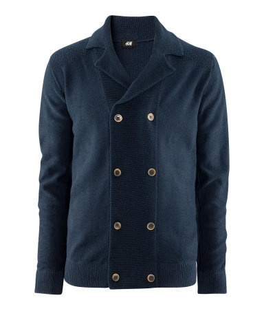A cardigan that looks like a pea coat.  This would look good on Steven :]