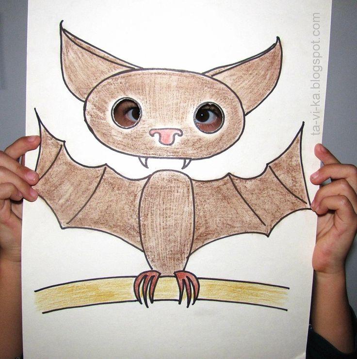 летучая мышь-вампир на Хэллоуин