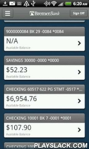 Bremer Bank Business Mobile  Android App - playslack.com ,  Start banking wherever you are with Bremer Bank Business Mobile for Android! Available to all Bremer Bank business online banking customers. Bremer Bank Business Mobile allows you to check balances, make transfers, pay bills, make deposits and find locations. Need to find a Branch or ATM closest to you? With Find Near Me, Bremer Bank Business Mobile will discover your location and provide you with addresses and phone numbers on the…