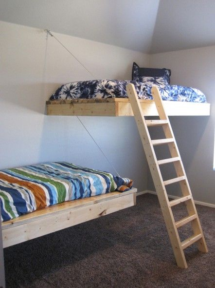 make your own floating beds for kids rooms! totally do-able.