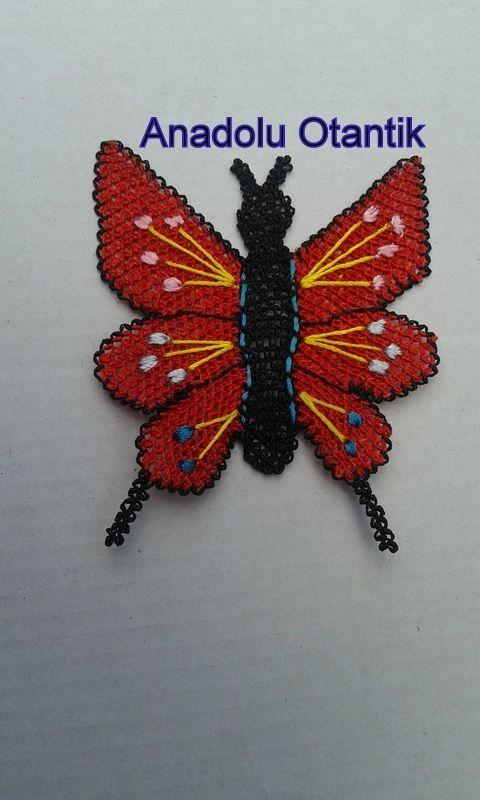 kelebek iğne oyası  sipariş 0544 2099 62 36
