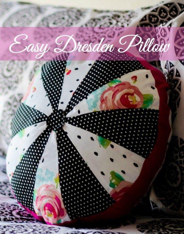 Tutorial: Round Dresden patchwork pillow