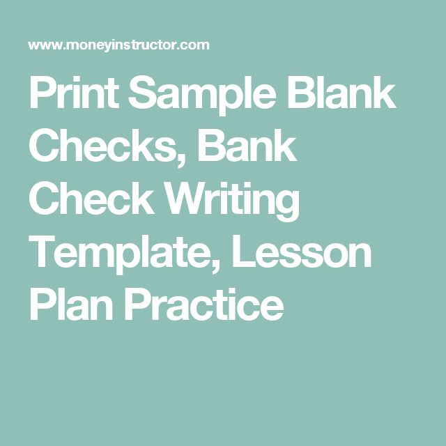 The 25+ best Blank check ideas on Pinterest | Weekly lesson plan ...