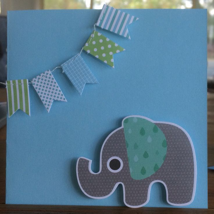 Simple newborn boy card