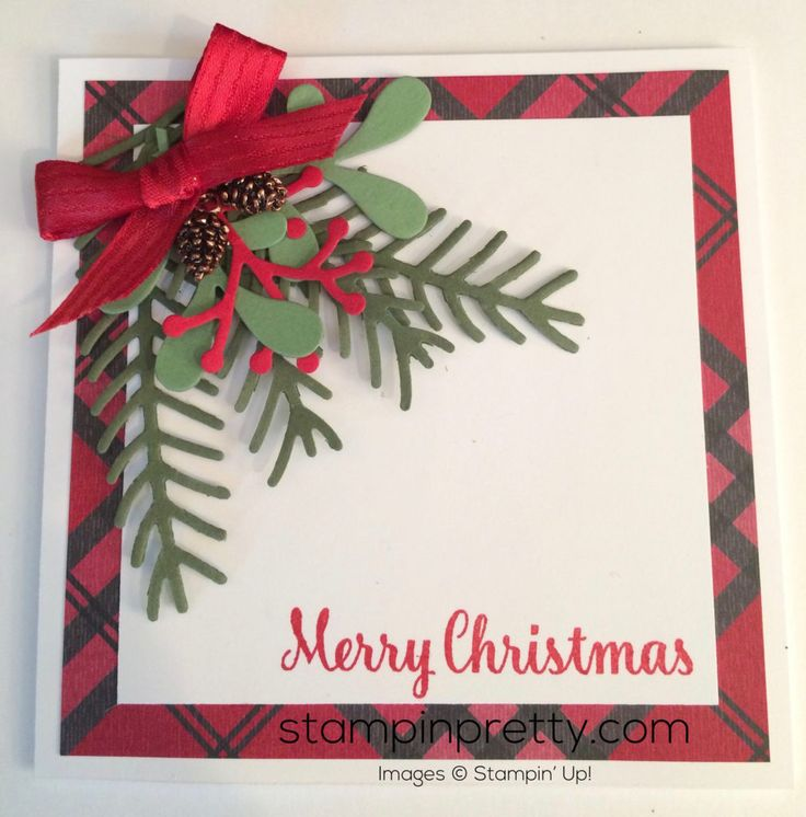 Stampin Up Pretty Pine Holiday card idea - Mary Fish stampinup