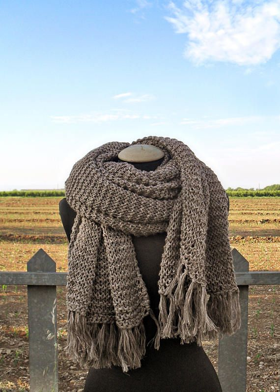 Very Long Wool Scarf Oversized Scarf Chunky Scarf Scarf