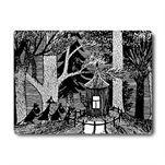 Mumin bordstablett svart - svartvit - Opto Design