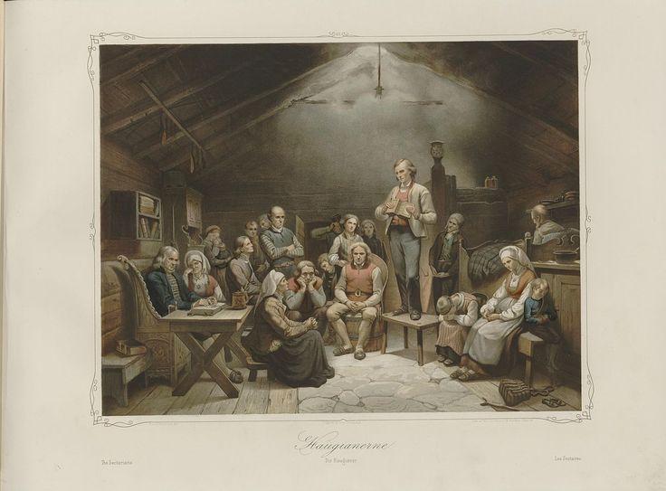 Norske Folkelivsbilleder - Adolph Tidemand - Haugianerne. jpg (1280×946)