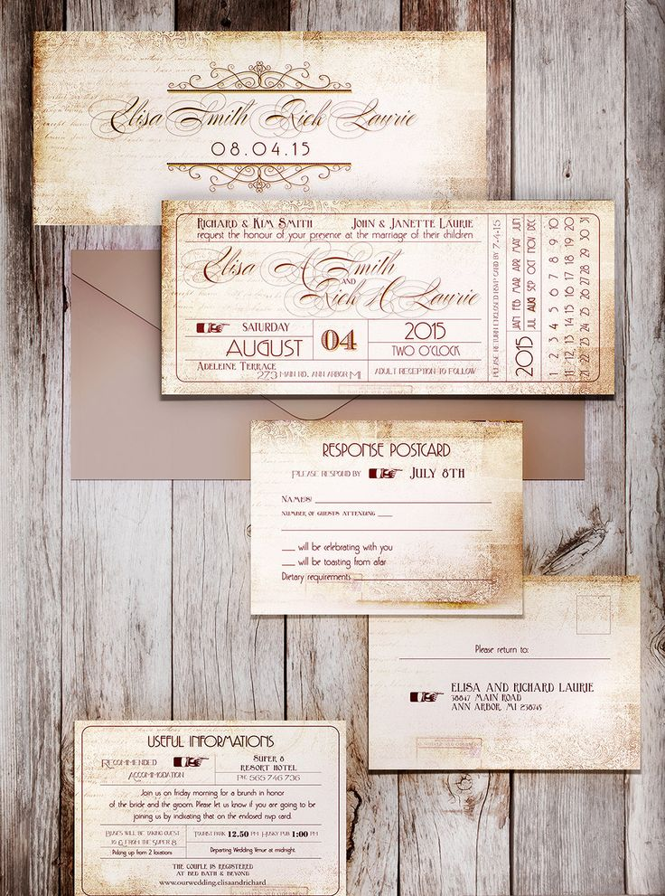 TICKET STUB PRINTABLE wedding invitation ticket stub wedding save the date by DesignedWithAmore on Etsy https://www.etsy.com/listing/206783808/ticket-stub-printable-wedding-invitation