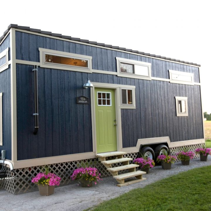Blue Tiny House By Tiny House Nation Tv Show Great Guys