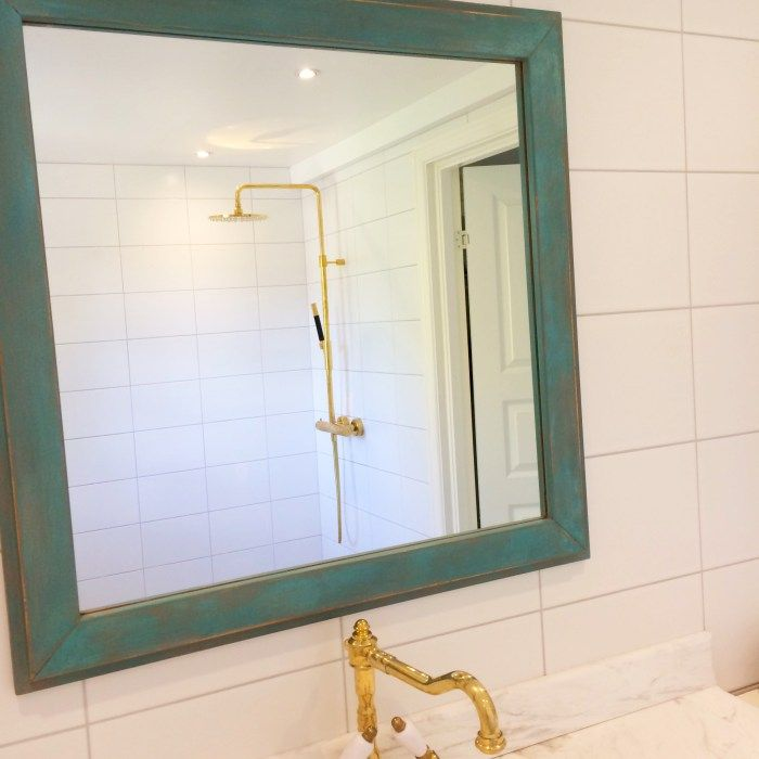 mirror in bathroom