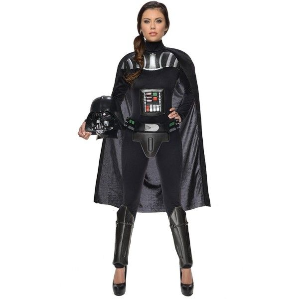 Star Wars Darth Vader Female Adult Bodysuit featuring polyvore women's fashion clothing costumes halloween costumes star wars costumes darth vader costume adult costumes luke skywalker costume star wars leia costume