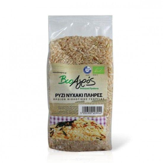 biotrofi.gr- Βιολογικό ρύζι μακρύ πλήρες 500γρ Βιοαγρός