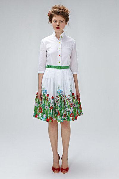 Hochzeitskleider - farbenfrohes 50's Brautkleid mit Blumenprint - ein Designerstück von mrspomeranz bei DaWanda