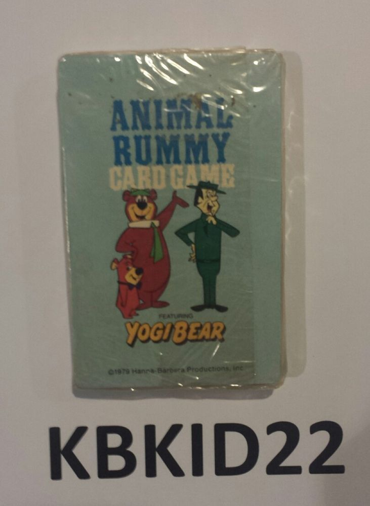 """YOGI BEAR ANIMAL RUMMY CHILDREN""""S CARD GAME BY HOYLE PRODUCTS 1979 SELAED NEW"""