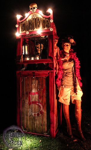 Night Circus Ticket Booth / The Haunted Garden