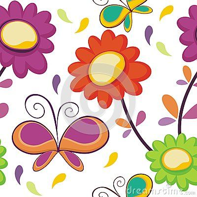 Butterfly with colorful flower pattern with colorful and bright