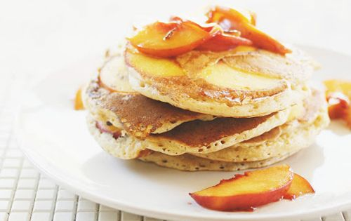 spiced peach pancakes - mint