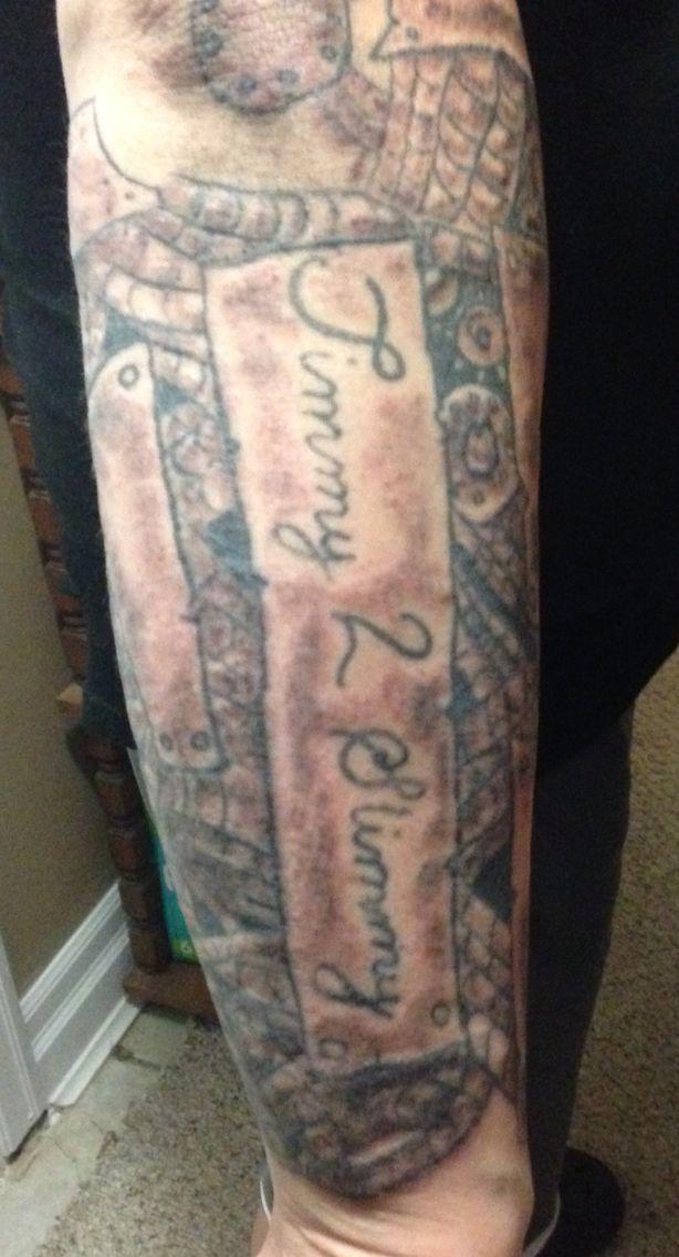 Tim's arm
