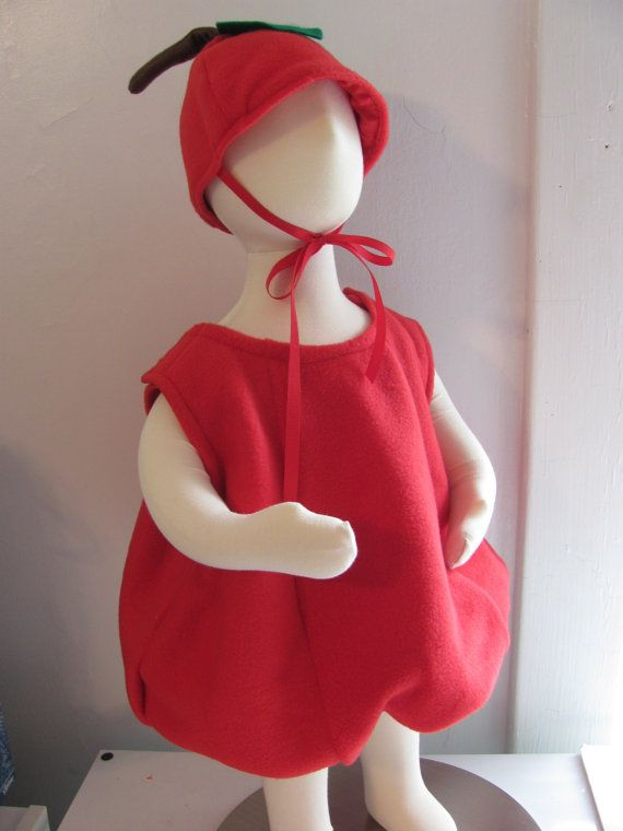 Apple Costume Toddler RESERVED Fruit Produce by irishandmore