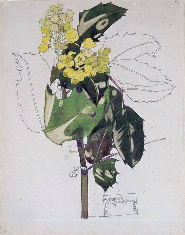 """Burberis, Walberswick"". Charles & Margaret Mackintosh. 1915. https://www.facebook.com/78derngate/photos/a.377907058917041.81185.272894872751594/1153450268029379/?type=3"