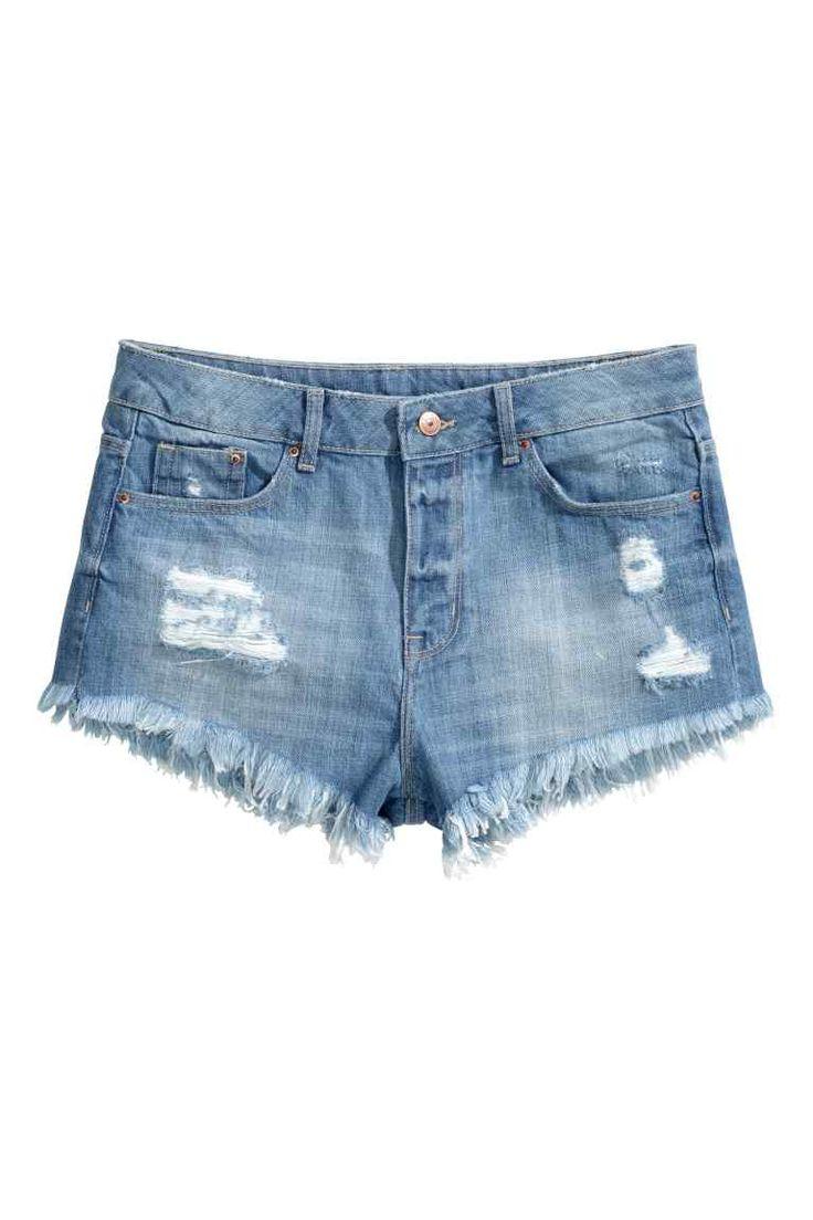 Wytarte szorty dżinsowe | H&M