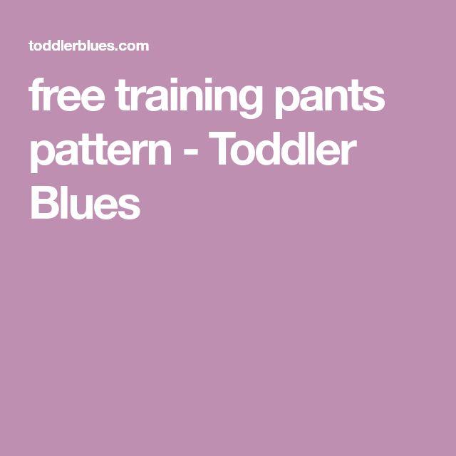 free training pants pattern - Toddler Blues
