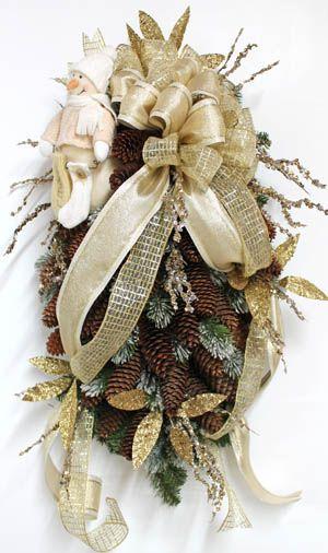 Elegant Pine Cones, Christmas Swag