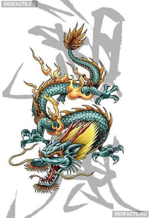 значение тату китайский дракон