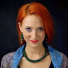 Sady šperkov - Zelená súprava - 6346926_