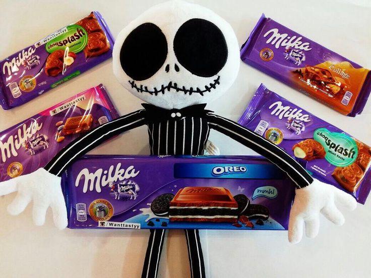 Шоколад Milka 100гр. 149р Шоколад Milka 300гр. 399р Игрушка скелет Джек 890р #необычно #wanttasty