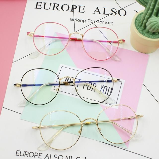 cc32345d38367 itGirl Shop CLEAR ROUND FRAGILE FRAME CUTE GLASSES Aesthetic Apparel