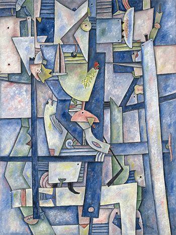 Adolfo Nigro, Ritmos del mar, 1992, óleo sobre tela.