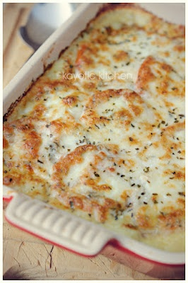 Mozzarella and potato pie from The Southern Junior League Cookbook.
