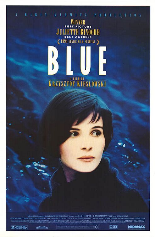 Three Colours Blue by Krzysztof Kieslowski... an emotional experience...absolutely my favorite from Three Colors ( there is also Red and White , all superb ) . Don't miss the fantastic music by Zbigniew Preisner .