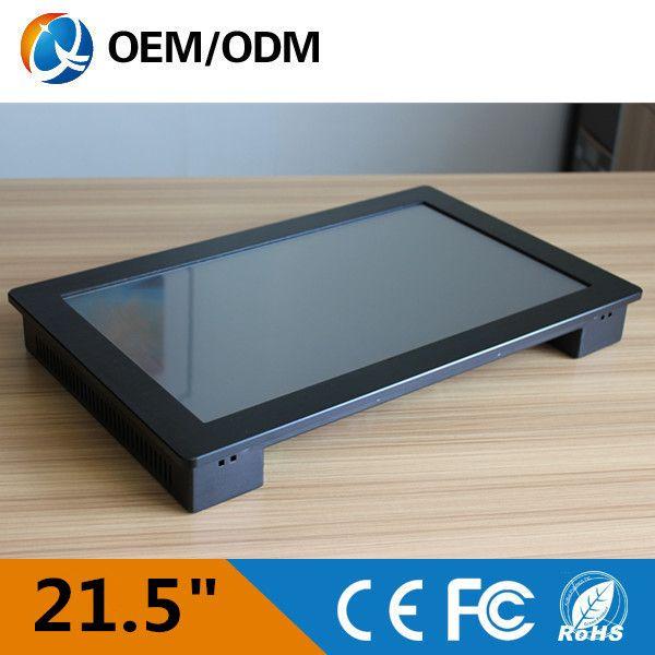 21.5 дюймов все-в-одном пк сенсорный экран разрешение 1920 х 1280 встраиваемых промышленных пк панели С i3 обои для рабочего процессора/стене висит