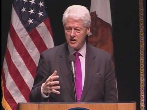 Talk from President Bill Clinton - Global Citizenship: Turning Good Intentions into Positive Action Speech