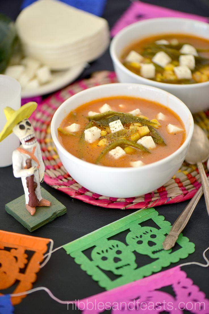 Poblano and Corn Soup with Panela Cheese and Crema Agria #GoAutentico #ad
