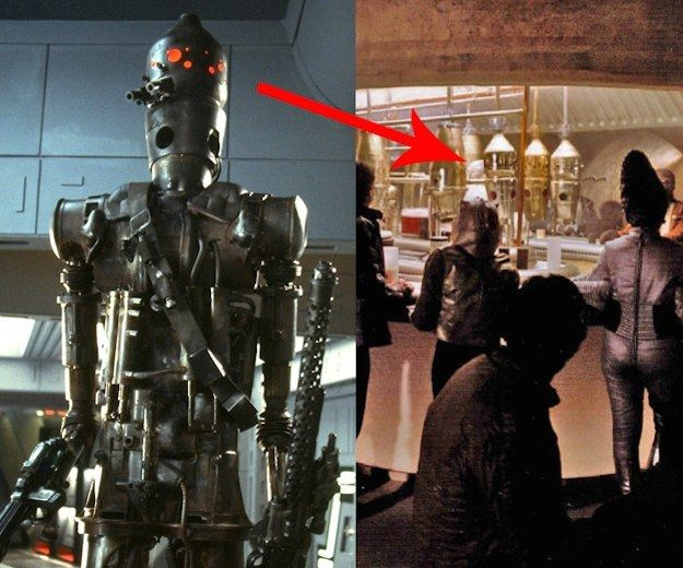 The bounty hunter droid IG-88 was actually built from recycled film props. His head is the drink dispenser from the cantina scene in Star Wars: Episode IV - A New Hope.
