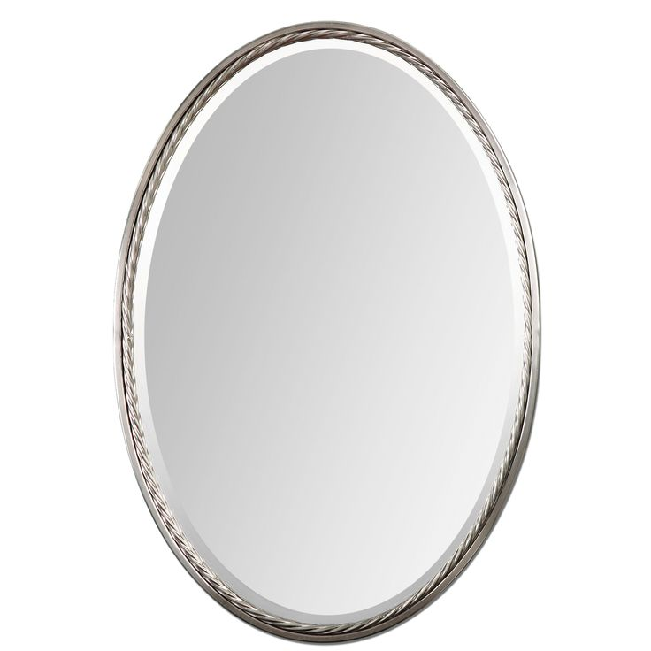 Casalina Brushed Nickel Mirror - Overstock™ Shopping - Great Deals on Mirrors