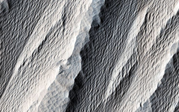 Wind Carved Rock on Mars Марсианские ярданги Image Credit: NASA/JPL/University of Arizona Caption:Michael Mellon