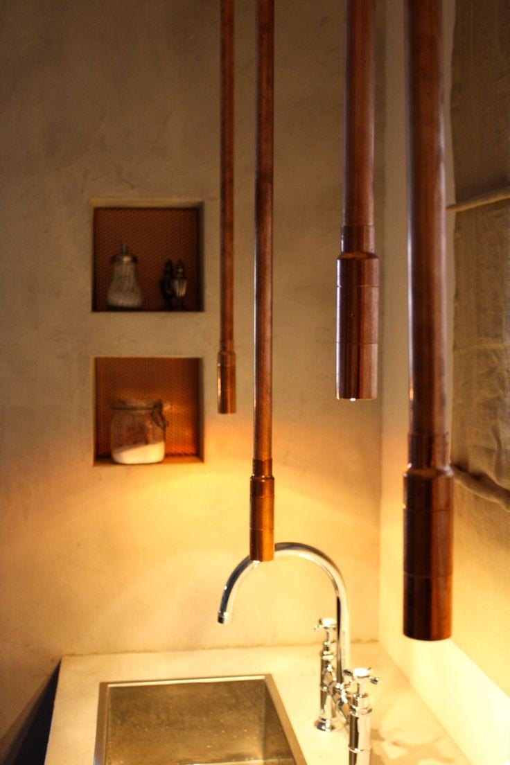 Luxury Mit Kupferrohren aus dem Baumarkt ist diese extravagante Leuchte entstanden http