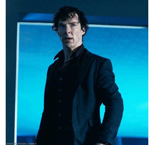Sherlock - The Six Thatchers. The pool scene got my heart race so fast... I was so afraid of sherlock :(