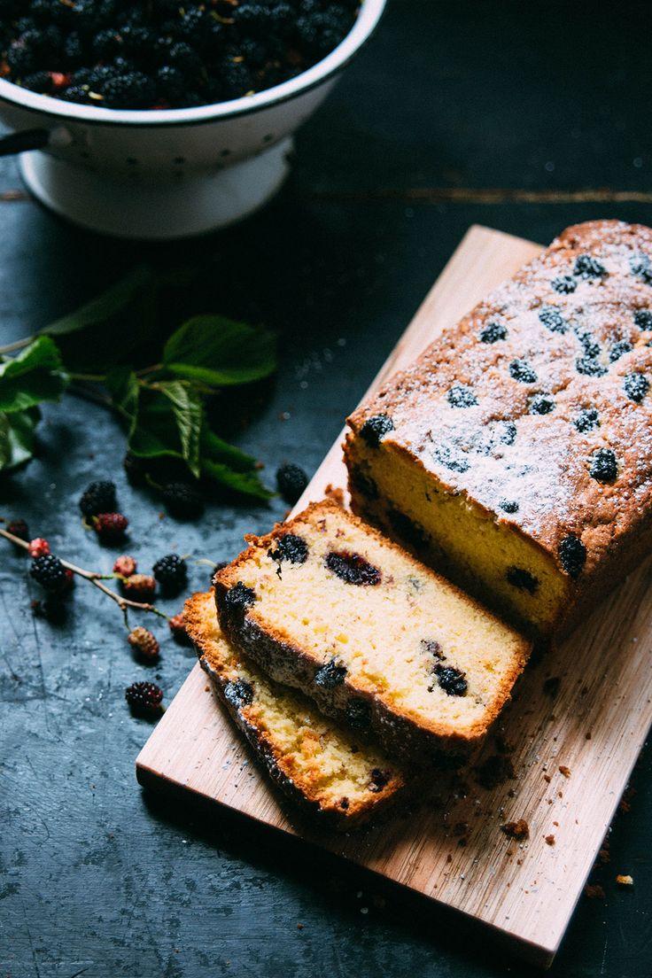 Mulberry tea cake